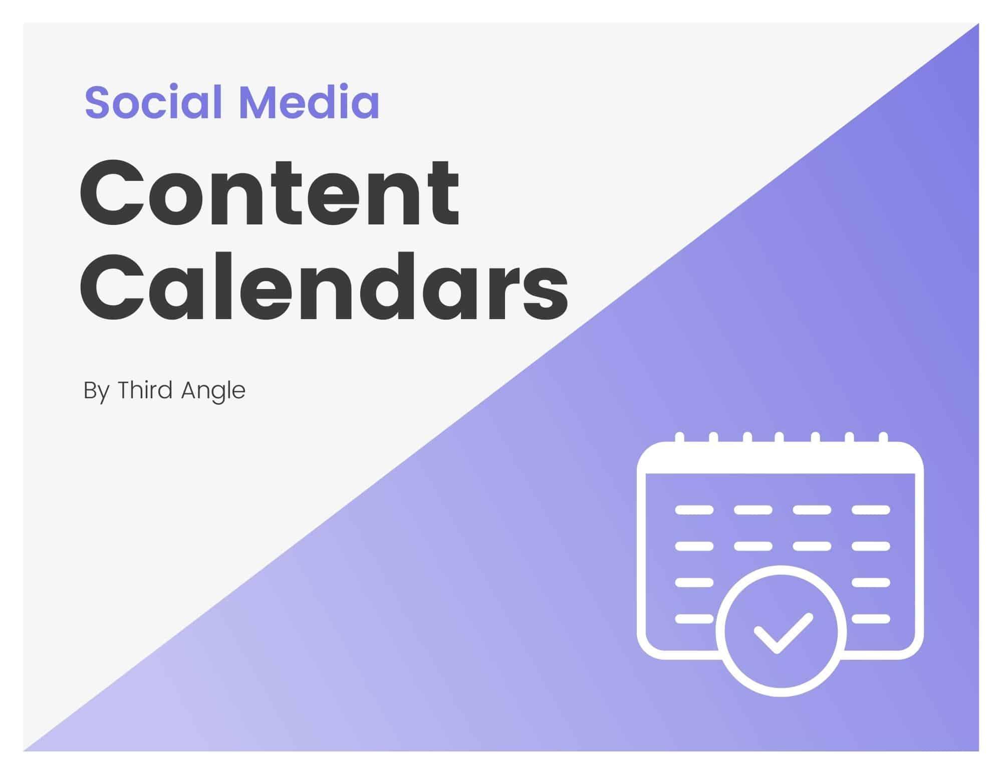 Cover of Content Calendar eBook