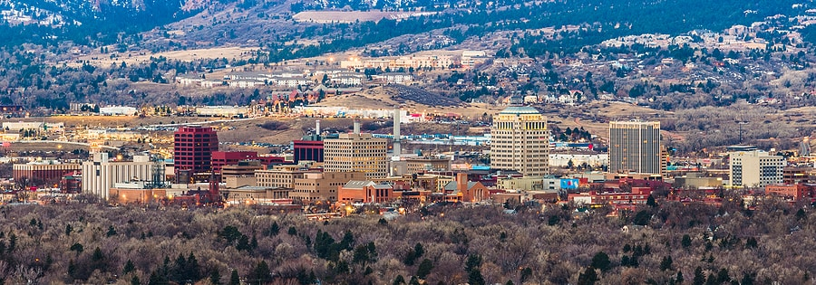 Photo of downtown Colorado Springs skyline