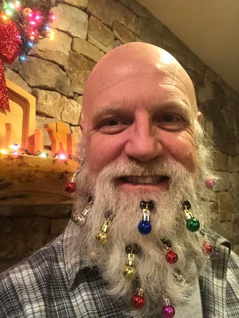 Randy with beard christmas ornaments