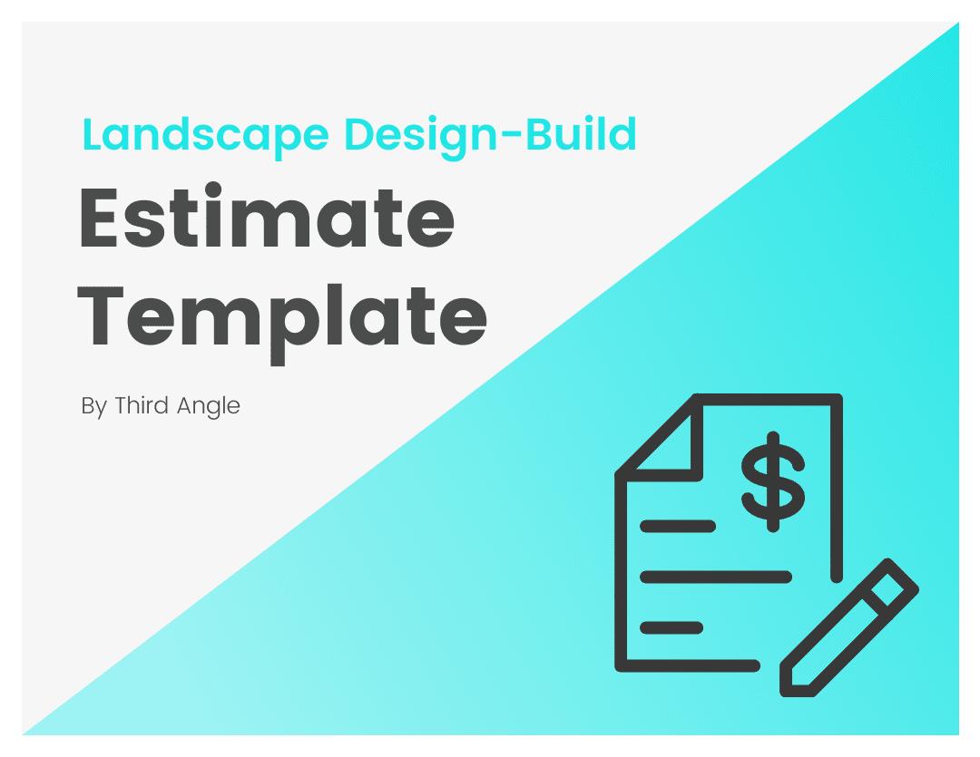 Landscape Design Bid Estimate Template by Third Angle