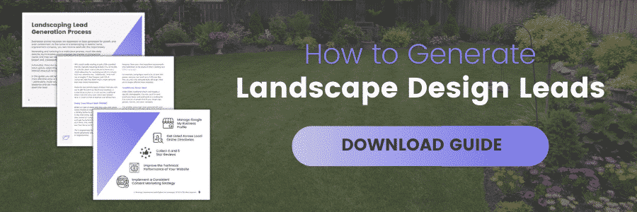 How to Generate Landscape Design Leads, Download Guide