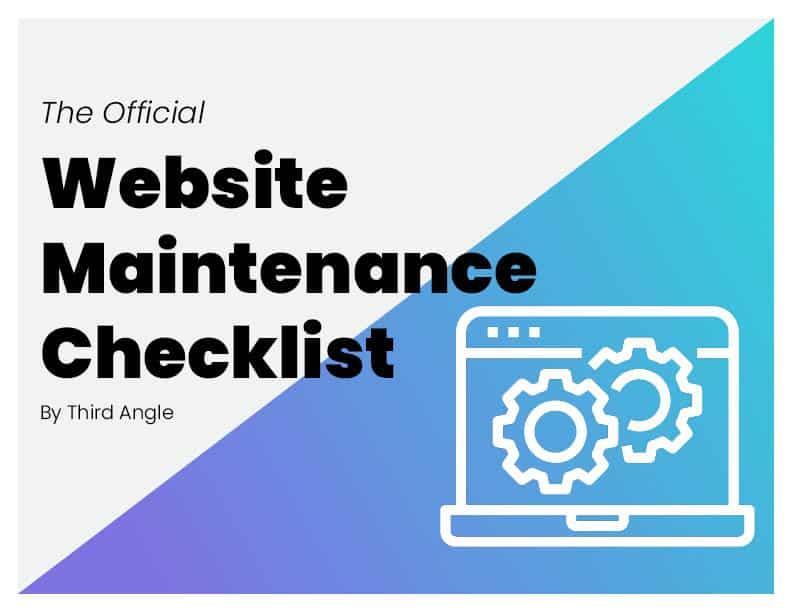 Website maintenance checklist image