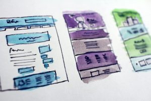 Website Wireframes or One Page Websites