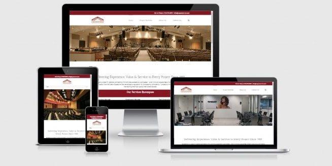 Website screenshot of Copestone General Contractors