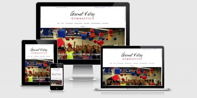 Website screenshot of Garnet Valley