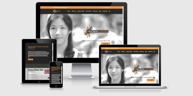 Website screenshots of Global Gates Christian Network.