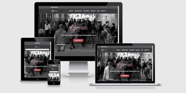 Website screenshot of Global Gates Canada