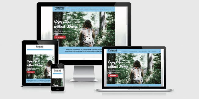 Website screenshots of Preferred Insurance CO