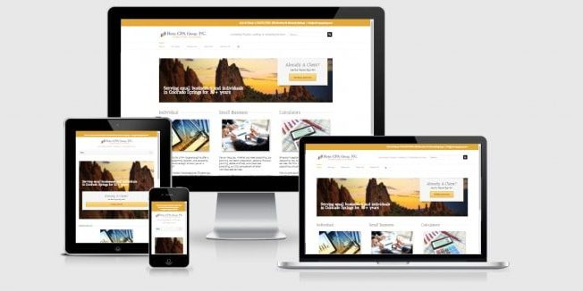 Website screenshots of Rohn CPA Group