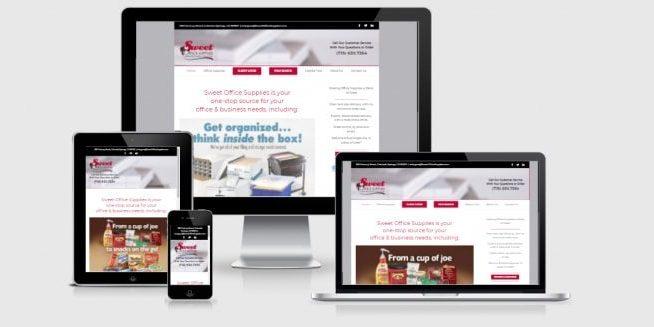 Website Screenshots of Sweet Office Supplies.