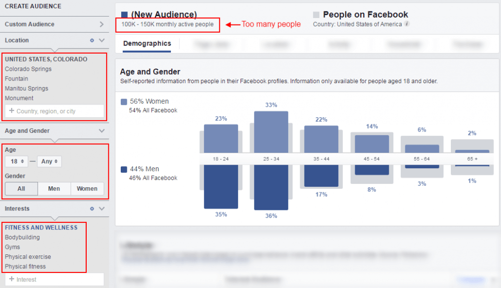 Too Generic Facebook Audience