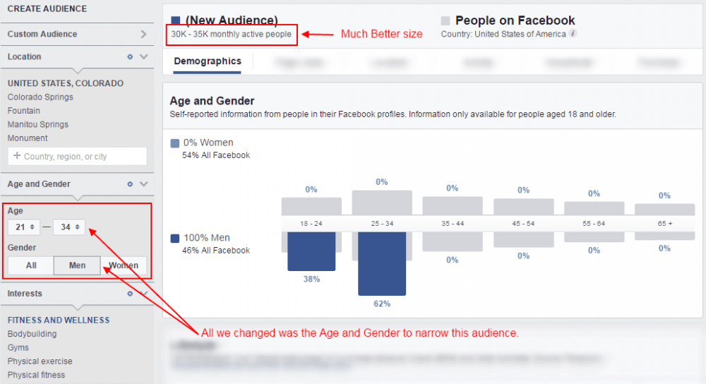 Targeted Facebook Audience