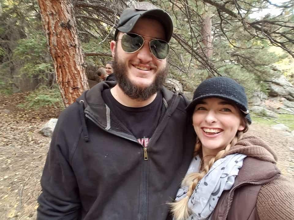 Me and my Husband on a hike.